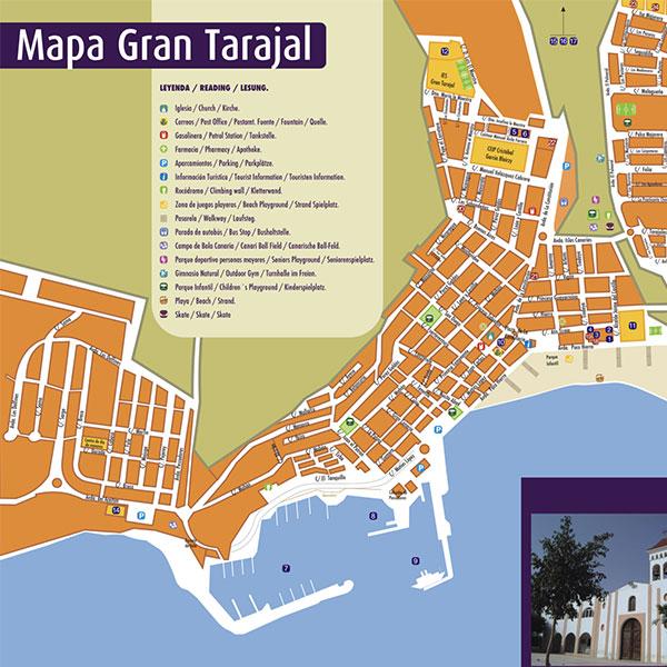 Mapa Gran Tarajal